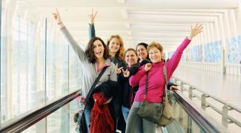 Mujeres aeropuerto