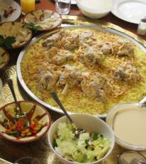 Platos de la cocina de jordania